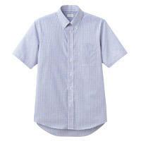 FACE MIX(フェイスミックス) 事務服 メンズ 大きいサイズ 半袖シャツ ネイビー 4L FB5018M (直送品)