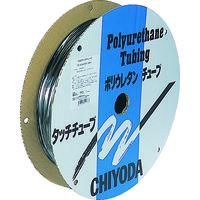 千代田通商 チヨダ TPタッチチューブ 6mmX100m 黒 TP6X4.0100 1巻 158ー9415 (直送品)