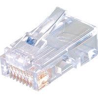 ジェフコム デンサン モジュラープラグ MJS808 1セット(25個:25個入×1パック) 321ー8139 (直送品)