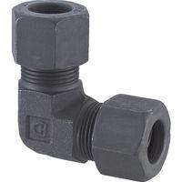 フジトク ユニオンエルボ Φ6 鋼管用 くい込み継手 L-6 1個 226-8701 (直送品)