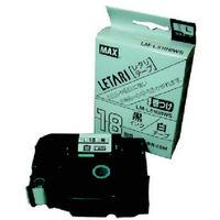 マックス MAX ラベルプリンタ ビーポップミニ 18mm幅巻きつけテープ 白地黒字 LML518BWS 1個 284ー3170 (直送品)