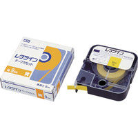マックス MAX チューブマーカー レタツイン テープカセット12mm幅 黄 LMTP312Y 1巻 281ー9937 (直送品)