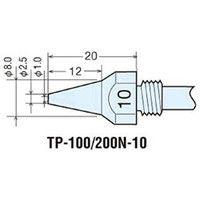 太洋電機産業 替ノズルチップφ1.0mm (1本=1PK) TP-100N-10 1本 305-9863 (直送品)