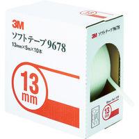 スリーエム ジャパン 3M ソフトテープ 9678 13mm径×5m 10本入り 9678 1セット(10巻:10巻入×1箱) 293ー1028 (直送品)