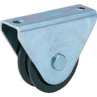 丸喜金属本社 枠付重量車 90mm V型 C-1000-90 1個 294-6475 (直送品)