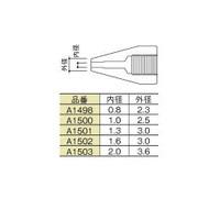 白光 白光 ノズル 2.0mm A1503 1本 255ー5085 (直送品)