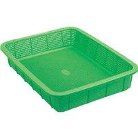 積水テクノ成型 積水 角かご浅型 大 緑 K5412G 1個 319ー6895 (直送品)