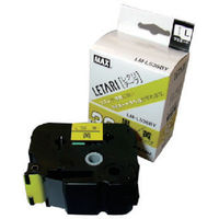 マックス(MAX) ラベルプリンタ ビーポップミニ 36mm幅テープ 黄地黒字 LM-L536BY 1個 304-1972 (直送品)