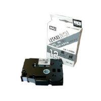 マックス MAX ラベルプリンタ ビーポップミニ 12mm幅テープ つや消し銀地黒字 LML512BM 1個 304ー2014 (直送品)