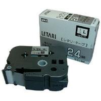 マックス MAX ラベルプリンタ ビーポップミニ 24mm幅テープ つや消し銀地黒字 LML524BM 1個 006ー6281 (直送品)