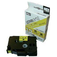 マックス MAX ラベルプリンタ ビーポップミニ 12mm幅テープ 黄地黒字 LML512BY 1個 304ー1948 (直送品)