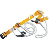 胴ベルト型 1本吊りWランヤード付安全帯(Wロープ) 黄 GH555CWY 1本 335-5551 TOYO SAFETY(トーヨーセフティー) (直送品)