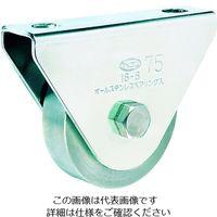 丸喜金属本社 オールステンレス枠付重量車 50mm 平型 S-3750-50 1個 356-1437 (直送品)