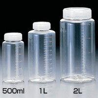 サンプラテック サンプラ クリアー広口ボトル 250ml 2014 1セット(100個入) 354ー0359 (直送品)