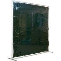 吉野 吉野 遮光フェンスアルミパイプ 2×2 単体固定 ダークグリーン YS22SFDG 1台 352ー8928 (直送品)