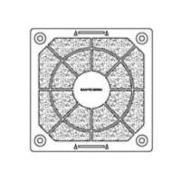 山洋電気 SanACE 樹脂フィルターキット (60用) 1091003F20 1枚 353ー2135 (直送品)