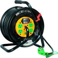 日動工業 電工ドラム マジックリール 100V アース漏電しゃ断器付30m TZ-EB34 1台 296-4112 (直送品)