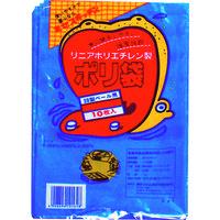 積水フィルム 積水 20型ポリ袋 青 #8ー1 N9636 1セット(10枚:10枚入×1袋) 001ー3099 (直送品)