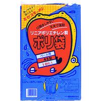 積水フィルム 積水 45型ポリ袋 青 #1ー1 N9701 1セット(10枚:10枚入×1袋) 001ー9585 (直送品)