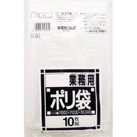 日本サニパック L-96ダストカート用透明 L-96-CL 1袋(10枚) 328-1574 (直送品)