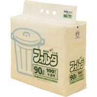 日本サニパック F-9H環優包装フォルタ90L白半透明 (1袋(PK)=100枚入) F-9H-HCL 1袋(100枚) 303-7606 (直送品)