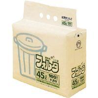 日本サニパック サニパック Fー4H環優包装フォルタ45L白半透明 F4HHCL 1セット(100枚:100枚入×1袋) 303ー7541 (直送品)