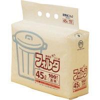 日本サニパック F-4C環優包装45L透明 (1袋(PK)=100枚入) F-4C-CL 1袋(100枚) 303-7533 (直送品)