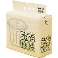 日本サニパック サニパック Fー7H環優包装フォルタ70L白半透明 F7HHCL 1セット(100枚:100枚入×1袋) 303ー7576 (直送品)