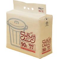 日本サニパック F-9C環優包装90L透明 (1袋(PK)=100枚入) F-9C-CL 1袋(100枚) 303-7592 (直送品)