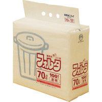 日本サニパック サニパック Fー7C環優包装70L透明 F7CCL 1セット(100枚:100枚入×1袋) 303ー7568 (直送品)