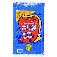 積水フィルム(SEKISUI) 70型ポリ袋 青 #6-1 N-9751 1袋(10枚) 001-9623 (直送品)