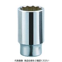 京都機械工具 KTC 19.0sq.ディープソケット(十二角) 22mm B4522 1個 383ー4191 (直送品)
