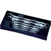 旭金属工業 ASH ライツールオフセット両口めがねレンチセット6本組 LOFS601 1セット 376-6098 (直送品)