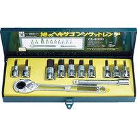旭金属工業 ASH ソケットレンチ用ヘキサゴンソケットセット12.7□ VX4000 1セット 376ー7582 (直送品)