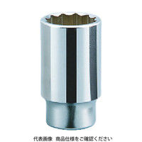 京都機械工具 KTC 19.0sq.ディープソケット(十二角) 19mm B4519 1個 383ー4166 (直送品)