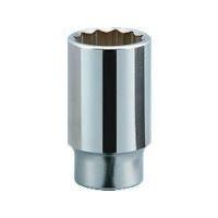 京都機械工具 KTC 19.0sq.ディープソケット(十二角) 52mm B45-52 1個 383-4425 (直送品)