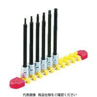 京都機械工具 KTC 6.3sq.ロングボールポイントヘキサゴンビットソケットセット4コ組 TBT2L04BPH  383ー9451 (直送品)