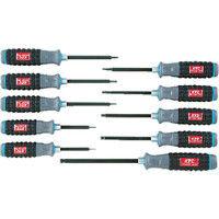京都機械工具 KTC 樹脂柄ボールポイントヘキサゴンドライバセット[10本組] TD1HBP10B 1セット 383-9630 (直送品)