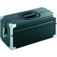 TONE(トネ) ツールケース(メタル) V形2段式 マットブラック BX322BK 1個 390-4342 (直送品)