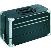 TONE(トネ) ツールケース(メタル) V形3段式 マットブラック BX331BK 1個 390-4393 (直送品)