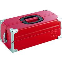 TONE TONE ツールケース(メタル) V形2段式 433X220X160mm レッド BX322S 1個 390ー4351 (直送品)
