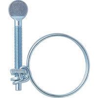 トラスコ中山 TRUSCO 指ネジ式ワイヤバンド 締付径43~48mm 10個入 TWBN48 1セット(10個:10個入×1箱) 256ー2707 (直送品)