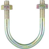 トラスコ中山(TRUSCO) PC管用Uボルト クロメート 呼び径80A ねじ径W3/8 TPCU-BT80A 1個 285-9505 (直送品)