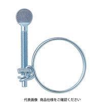トラスコ中山 TRUSCO 指ネジ式ワイヤバンド 締付径52~58mm 10個入 TWBN58 1セット(10個:10個入×1箱) 256ー2715 (直送品)