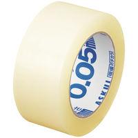 「現場のチカラ」軽梱包用OPPテープ 0.05mm厚 100m巻 1箱(50巻:5巻入×10パック) アスクル