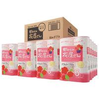 トイレットペーパー 6ロール×8パック 古紙配合 エレガンスブーケの香り ダブル 55m 街かどの花屋さん 1箱(48個:6個×8パック入) 泉製紙