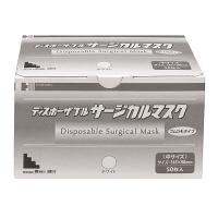 サージカルマスク 中サイズ ホワイト 3層式 1ケース(1000枚:50枚入×20箱) 長谷川綿行 (取寄品)
