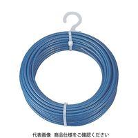 トラスコ中山 TRUSCO メッキ付ワイヤーロープ PVC被覆タイプ Φ4(6)mmX30m CWP4S30 1巻 213ー4951 (直送品)