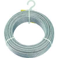 トラスコ中山 TRUSCO メッキ付ワイヤーロープ Φ6mmX30m CWM6S30 1巻 213ー4675 (直送品)