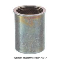 トラスコ中山(TRUSCO) クリンプナット薄頭スチール 板厚2.5 M6X1.0 1000個入 TBNF-6M25S-C 302-1424 (直送品)